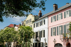 Colorful houses - Charleston, South Carolina Stock Photography