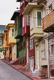 Colorful houses on city street - Istanbul Royalty Free Stock Image