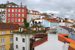Colorful houses of Coimbra, Portugal Stock Image