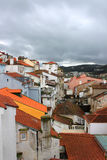 Colorful houses of Coimbra, Portugal Stock Photos