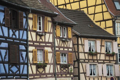 Colorful houses in Colmar, France. Royalty Free Stock Images