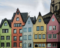 Colorful houses in Cologne Stock Photography
