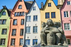 Colorful houses in Cologne, Germany Royalty Free Stock Images