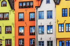 Colorful houses in Cologne on the Rhine Stock Image