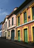 Colorful houses in Colombia stock images