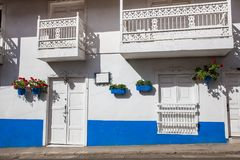 Colorful houses in Jardin, Antoquia, Colombia. Colorful houses in colonial city Jardin, Antoquia, Colombia, South America Stock Photography