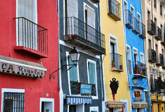Colorful houses of Cuenca, Spain Royalty Free Stock Image