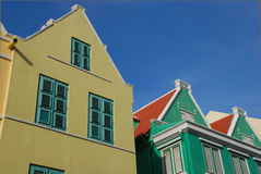 Colorful houses in Curacao Royalty Free Stock Image
