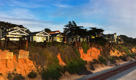 Del Mar Homes Overlooking the Ocean Royalty Free Stock Photo