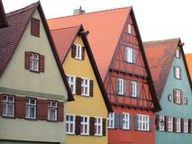 Colorful house facades Royalty Free Stock Photos
