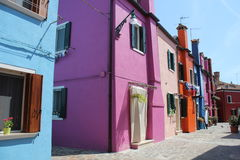 Colorful houses in the famous island Burano Stock Photo