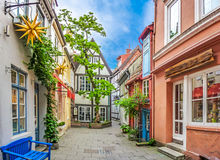 Colorful houses in famous Schnoorviertel in Bremen, Germany Royalty Free Stock Photos