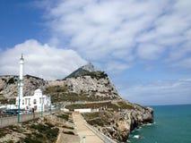 Tip of peninsula, Gibraltar stock image