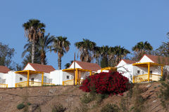 Colorful houses on Fuerteventura Royalty Free Stock Photos