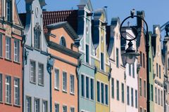 Colorful houses in Gdansk, Poland Royalty Free Stock Photos