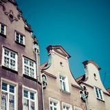 Colorful houses in Gdansk, Poland Royalty Free Stock Images
