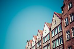 Colorful houses in Gdansk, Poland Royalty Free Stock Image