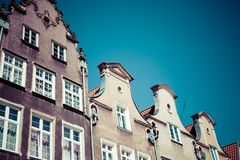 Colorful houses in Gdansk, Poland Royalty Free Stock Photography