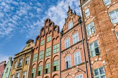Colorful houses in Gdansk, Poland Stock Photography
