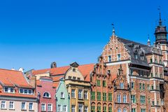 Colorful houses in Gdansk, Poland Stock Photos