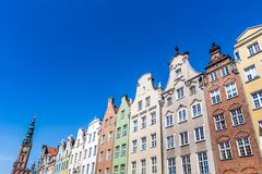 Colorful houses in Gdansk, Poland Royalty Free Stock Photo