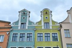 Colorful houses, Gdansk Royalty Free Stock Photography