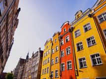 Colorful houses of Gdansk, Poland Stock Image