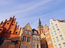 Colorful houses of Gdansk, Poland Stock Images
