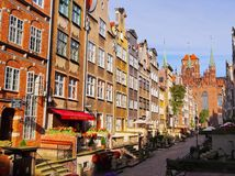 Colorful houses of Gdansk, Poland Royalty Free Stock Images