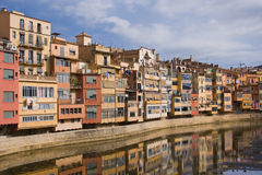 Colorful houses of Girona Royalty Free Stock Photos