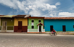 Colorful Houses on Granada Street Royalty Free Stock Image