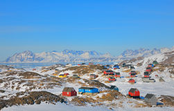 Colorful houses in Greenland Stock Photos