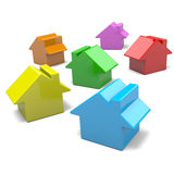 Colorful Houses Stock Photography