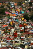 Colorful houses in Guanajuato stock images