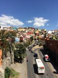 Colorful houses of Guanajuato Stock Image