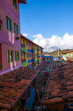 Colorful houses of Guatape city near Medellin, Antioquia, Colombia Stock Photography