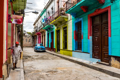 Colorful Houses - Havana, Cuba Royalty Free Stock Images