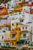 Colorful Houses on the Hill-Tenerife,Canary Isl. Stock Images