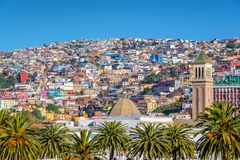 Colorful houses on a hill of Valparaiso Chile. Colorful houses on a hill of Valparaiso, Chile royalty free stock images