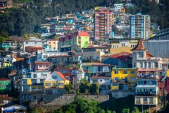 Colorful houses on a hill of Valparaiso Chile. Colorful houses on a hill of Valparaiso, Chile stock photo