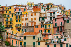 Colorful houses on a hillside Royalty Free Stock Photos
