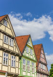 Colorful houses in the historic center of Celle stock photos
