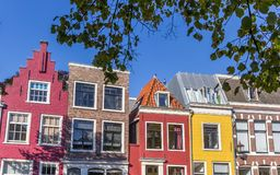 Colorful houses in the historic center of Haarlem Royalty Free Stock Photos