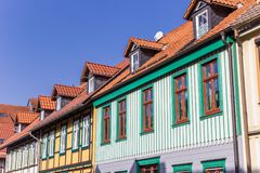 Colorful houses in the historic center of Wernigerode. Germany Stock Photo