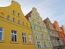 Colorful houses. Historic houses in the city centre of Stralsund. The hanseatic city lies in northeastern Germany at the Baltic Sea and the old town is listed as Stock Images