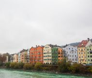 Colorful Houses Innsbruck royalty free stock images