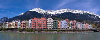 Colorful houses in Innsbruck Royalty Free Stock Photo