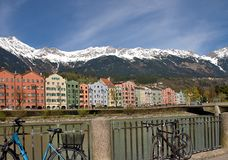 Colorful houses in Innsbruck Stock Photography