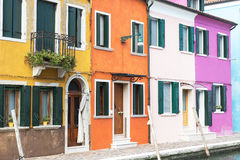 Colorful houses on the island of Burano Stock Photo