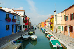 Colorful houses. Island Burano, Venice Royalty Free Stock Photo